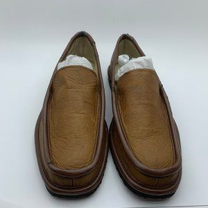 Evans Men's Loafers Brown Faux Leather Size 7